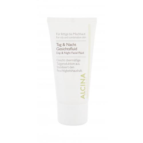 ALCINA For Oily Skin Day & Night Facial Fluid krem do twarzy na dzieñ 50 ml dla kobiet
