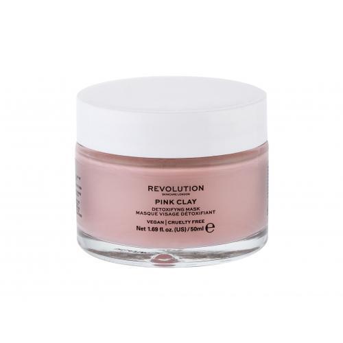 Revolution Skincare Pink Clay Detoxifying maseczka do twarzy 50 ml dla kobiet
