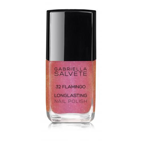 Gabriella Salvete Longlasting Enamel lakier do paznokci 11 ml dla kobiet 32 Flamingo Z brokatem