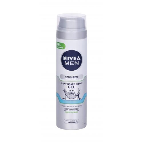 Nivea Men Sensitive 3-Day Beard ¿el do golenia 200 ml dla mê¿czyzn