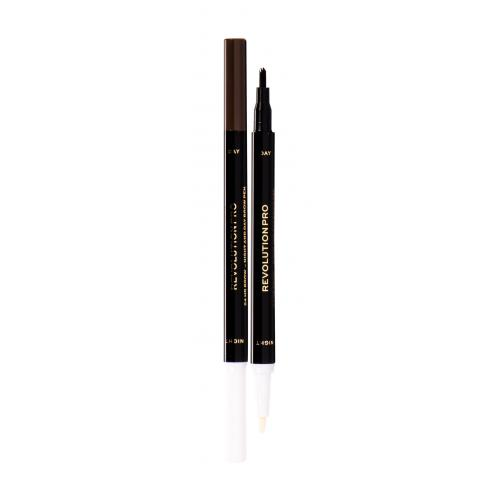 Makeup Revolution London Revolution PRO Day & Night Brow Pen kredka do brwi 1,6 ml dla kobiet Warm Brown