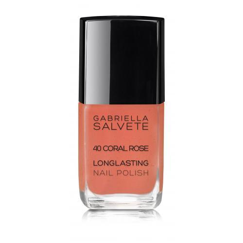 Gabriella Salvete Longlasting Enamel lakier do paznokci 11 ml dla kobiet 40 Coral Rose Bez brokatu