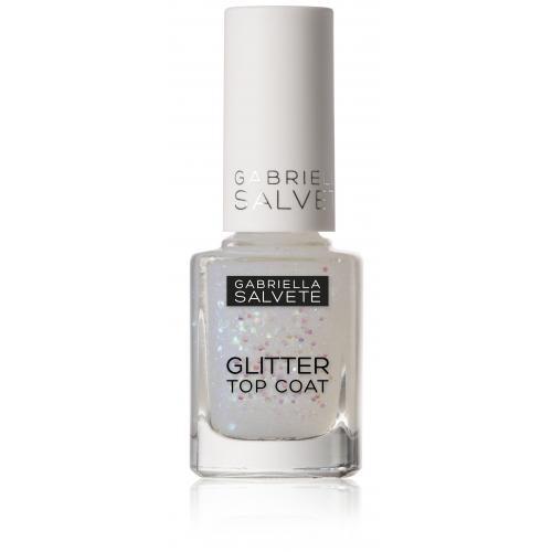 Gabriella Salvete Nail Care Glitter Top Coat lakier do paznokci 11 ml dla kobiet 17 Z brokatem