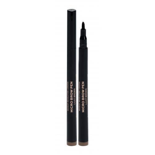 Makeup Revolution London Micro Brow Pen kredka do brwi 1 ml dla kobiet Light Brown