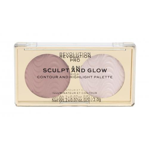 Makeup Revolution London Revolution PRO Sculpt And Glow zestaw kosmetyków 4 g dla kobiet Sands Of Time