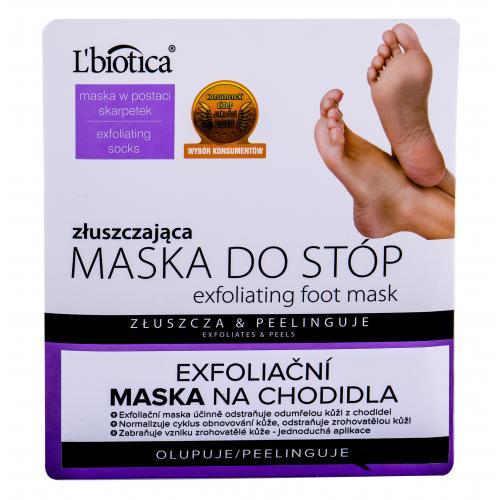 L´Biotica Foot Mask Exfoliating maseczka do nóg 1 szt dla kobiet