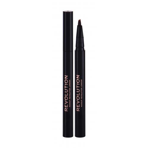 Makeup Revolution London Bushy Brow Pen kredka do brwi 0,5 ml dla kobiet Dark Brown
