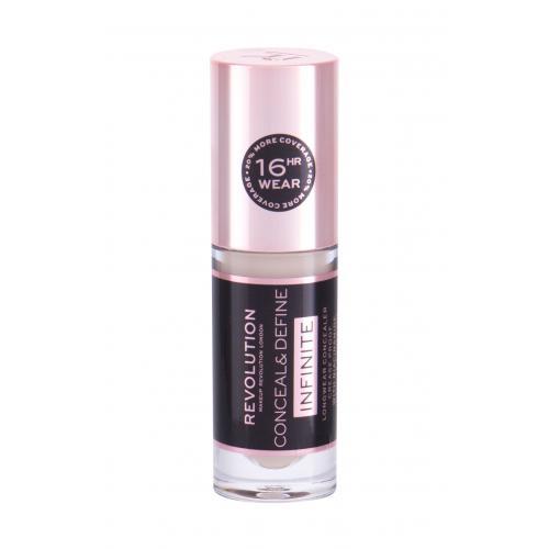Makeup Revolution London Conceal & Define Infinite korektor 5 ml dla kobiet C0.5 Cruelty free; Vegan