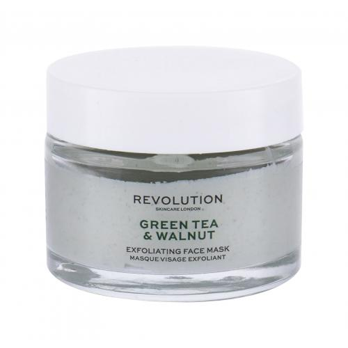 Revolution Skincare Green Tea & Walnut maseczka do twarzy 50 ml dla kobiet