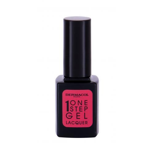 Dermacol One Step Gel Lacquer lakier do paznokci 11 ml dla kobiet 04 Valentine Bez brokatu