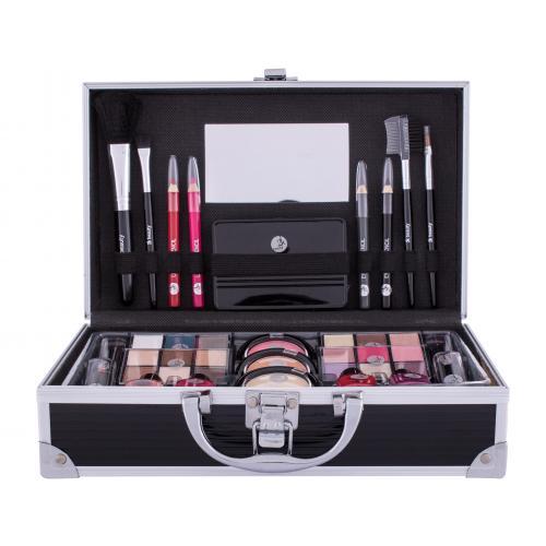 2K Fabulous Beauty Train Case Black zestaw kosmetyków Paletka do makija¿u dla kobiet