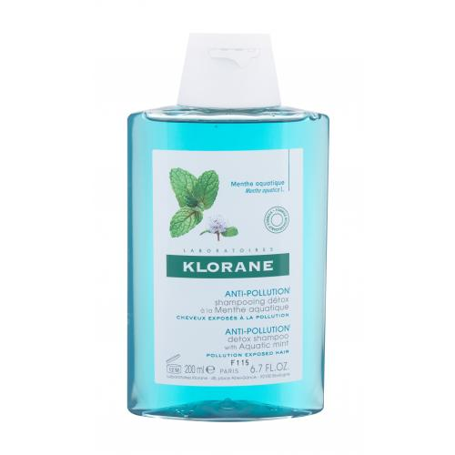 Klorane Aquatic Mint Anti-Pollution szampon do włosów 200 ml dla kobiet Naturalny