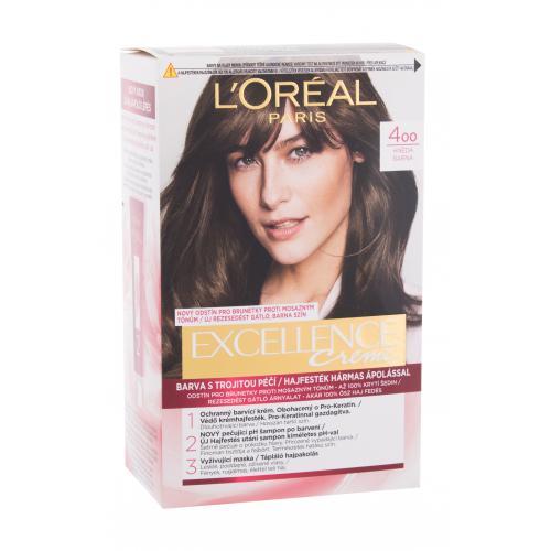 L´Oréal Paris Excellence Creme Triple Protection farba do włosów 48 ml dla kobiet Uszkodzone pudełko 400 Brown