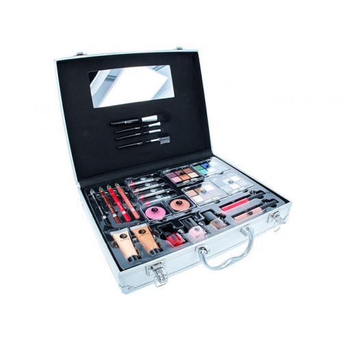 2K Beauty Unlimited Train Case zestaw kosmetyków Complete Makeup Palette dla kobiet