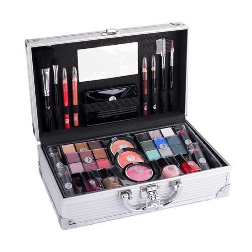 2K Fabulous Beauty Train Case zestaw Complete Makeup Palette dla kobiet