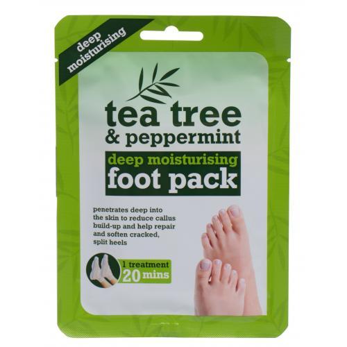Xpel Tea Tree Tea Tree & Peppermint Deep Moisturising Foot Pack maseczka do nóg 1 szt dla kobiet