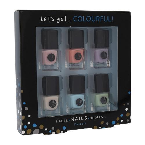 2K Let´s Get Colourful! Pastels zestaw Lakier do paznokci 6 x 5 ml dla kobiet Bez brokatu