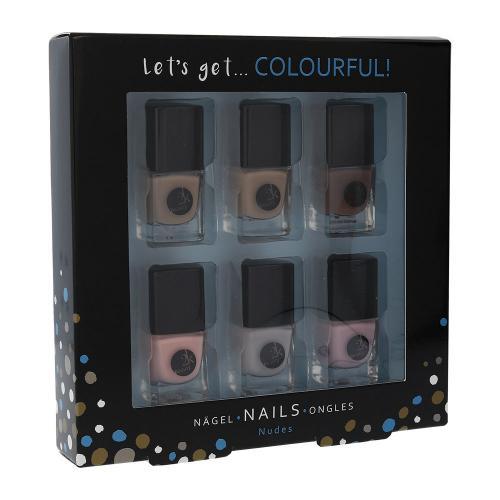 2K Let´s Get Colourful! Nudes zestaw Lakier do paznokci 6 x 5 ml dla kobiet Bez brokatu