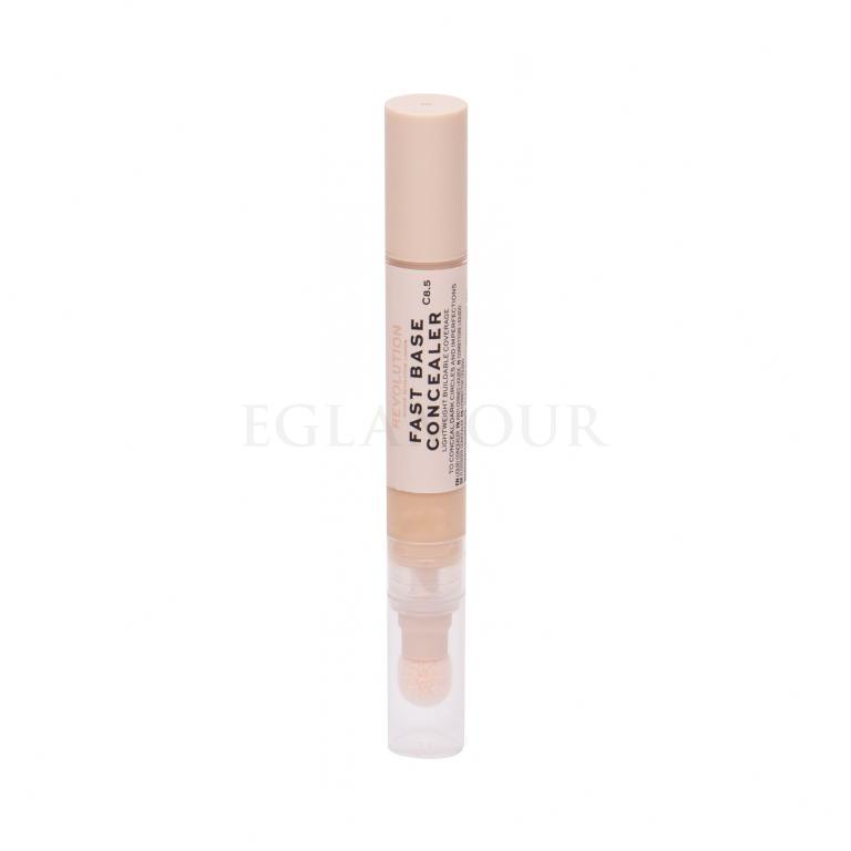 Makeup Revolution London Fast Base Korektor dla kobiet 4,5 ml Odcień C8.5