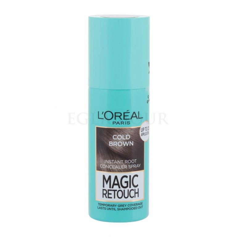 L´Oréal Paris Magic Retouch Instant Root Concealer Spray Farba do włosów dla kobiet 75 ml Odcień Cold Brown