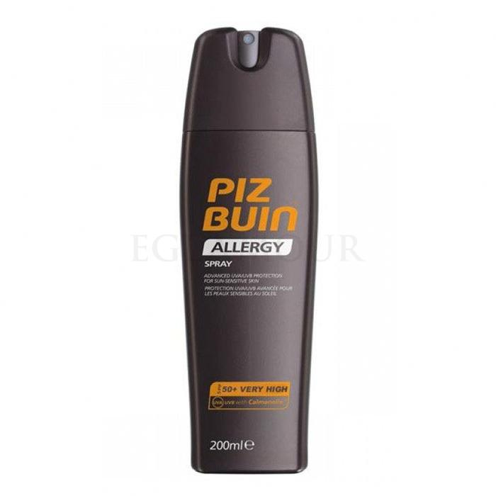 PIZ BUIN Allergy Sun Sensitive Skin Spray SPF50 Preparat do opalania ciała dla kobiet 200 ml