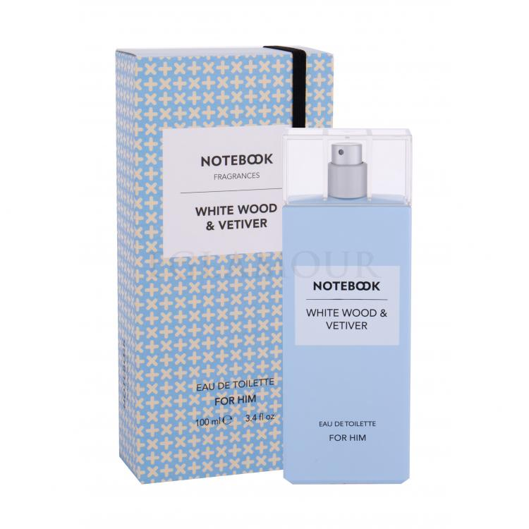notebook white wood & vetiver