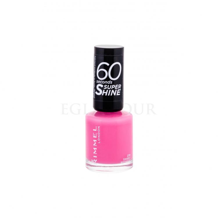Rimmel London 60 Seconds By Rita Ora Lakier do paznokci dla kobiet 8 ml Odcień 270 Sweet Retreat