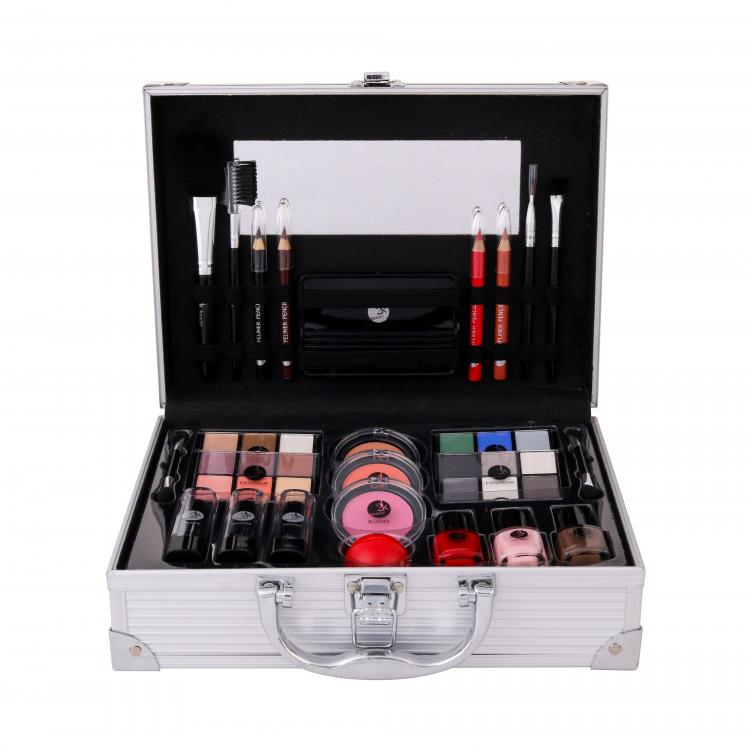 2K All About Beauty Train Case Zestaw dla kobiet Complete Makeup Palette